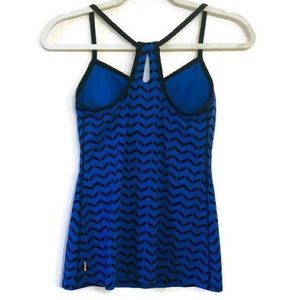 LUCY Black and Blue Racerback Workout Tank size Sm